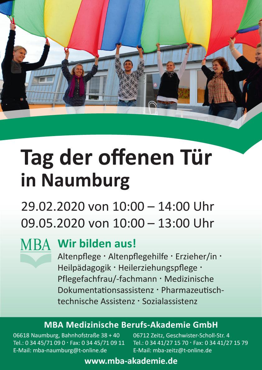 Tag der offenen Tür Naumburg MBA 2020